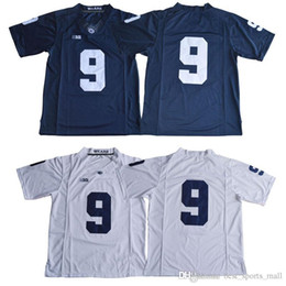 Wholesale Free Shipping Penn State Nittany Lions  9 Trace McSorley  26  Saquon Barkley Navy Blue White No Name cheap College Stitched Jerseys 092ef91c4