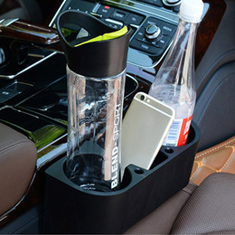 Wholesale Rack Mount Stand - 3 IN1 Universal Black Cup Holders Car Storage Box Drinking Bottle Phone Can Mug Mount Stand Racks Holder Organization HH7-350