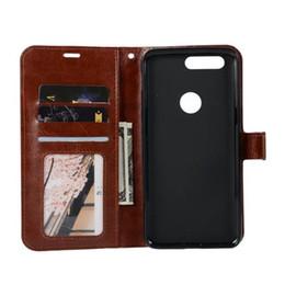 Oneplus чехол для карты онлайн-Новая бесплатная доставка Оптовая Crazy horse зерна бумажник PU кожаный чехол Чехол для Oneplus 5T с держателем карты