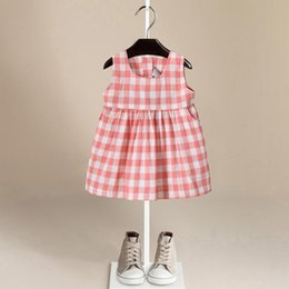 Wholesale Dresses Trade - Summer New Pattern Foreign Trade Children's Garment England Style You Pure Cotton Girl Vest Skirt Dress