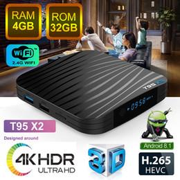 nouveau lecteur multimédia Promotion Digital TV Box Box 4 Go 32 Go Sunvell T95X2 Android8.1 Soutien TVBox intelligent Film 3D Nouveau Lecteur multimédia Android Amlogic S905X2