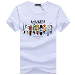 be7d8ef53 camisa de impressão de calçado Desconto Designer de camisetas dos homens de  Alta Qualidade Moda Maré