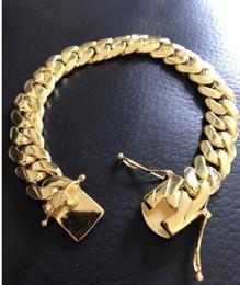 Miami cuban gold fill en Ligne-Bracelet pour homme cubain Miami Link 14k Gold rempli de solide 10mm de large