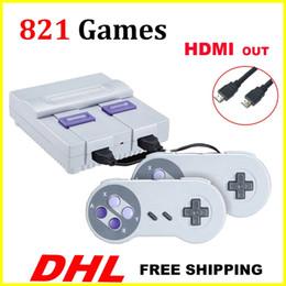 Console de vídeo portátil on-line-Console de jogos HDMI Out TV pode armazenar 821 jogos de vídeo portáteis para jogos SNES consoles brinquedos