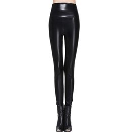 Wholesale Plus Size Faux Leather Pants - Women Leggings Faux Leather High Quality Slim Leggings Plus Size High Elasticity Sexy Pants Leggins S -Xl Leather Boots Leggings