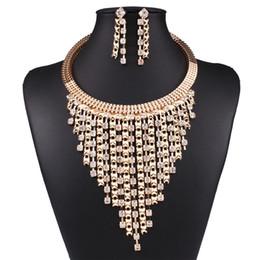 Wholesale Austrian Crystal Heart Pendant - Solememo Luxury Gold Wedding Jewelry Sets Women Fashion Jewelry Sets Austrian Crystal Pendant Necklace Long Earrings N3589