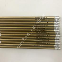 Logos gedruckt porzellan online-preiswerter Preis der Qualitäts China stationär schwarze Färbung Graphit Gold Holzstifte gedruckt individuelles Logo Masse 1000pcs freies Verschiffen