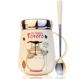 Large Capacity Creative Lovely Ceramic Cartoon Cute Totoro Lover Coffee Mug Cup Birthday Gift Drop Shipping