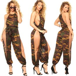 Wholesale Breast Hanging - Goods In Stock ! F31 Sexy Breast Hanging Camouflage Vent Nightclub Lin Tai Pants