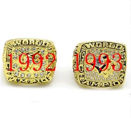 Wholesale League Championship Ring - 1992 1993 Toronto Blue Jay Carter League Baseball Championship Ring for Fans