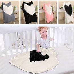 wolldecken Rabatt Liebe Herz Gestrickte Decken Baby Kinder Neugeborenen Klimaanlage Wolle Quilts Sofa Home Swadding Decke Geschenke 100 * 78 cm TY7-155