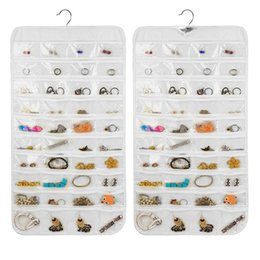 Wholesale Plastic Jewelry Storage - Hanging Storage Bag Jewelry Holder Necklace Ring Earring Jewelry Pouch Organizer Bag Jewelry Display Bags Transparent Display