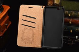 Wholesale mobile phone lanyard iphone - Luxury brand mobile phone wallet leather case for iphone X 7 7plus 8 8plus with card slot lanyard protection shell cover for 6 6S 6plus