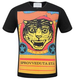 Canada Liste Classique Hommes T-shirts Angry Cat Tête De Léopard Imprimé À Manches Courtes T-shirt En Coton T-shirts Tops Italia T-shirt Offre
