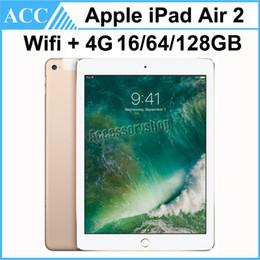 Wholesale Free Cellular - Refurbished iPade Air 2 iPad6 Wifi + 4G Cellular 9.7 inch 16GB 64GB 128GB A8X Chip Gold Silver Space Gray Free DHL