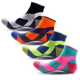 Wholesale wholesale acrylic bowls - High Quality Thickened Socks Breathable Sweat Absorbing Deodorant Outdoor Running Basketball Sports Socks For Men & Women G506S
