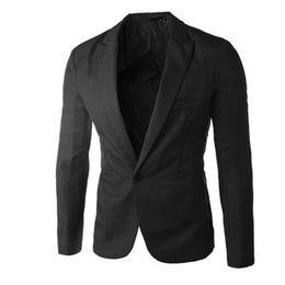 Wholesale Cool Slim Men Blazer - Mooistar #5019 Charm Men's Casual Slim Fit One Button Suit Blazer Coat Jacket Tops Men Fashion Cool