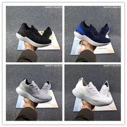 Wholesale Comfortable Running Shoes For Men - 2018 New N K Epic React Instant Go Fly Breath Comfortable Sport Boost Size 7-11 Mens Running Shoes For Sale Men Athletic Sneakers