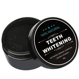 Wholesale Wholesale Teeth White - All Natural and Organic Activated Charcoal Teeth Cleaning Tooth Powder teeth Whites 30g 100PCS