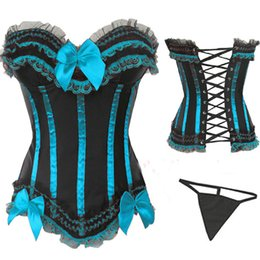 Wholesale Sexy Corset 5xl - PP Instyles Bow Corset Bustier 8068 Sexy Lingerie S M L XL 2XL 3XL 4XL 5XL 6XL Plus Size Women Corsets Free Shipping