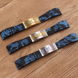 Reloj Accesorios Correa de Silicona de Caucho Camo Impermeable Correa de 20mm Pulsera Para Hombre Reloj Band desde fabricantes