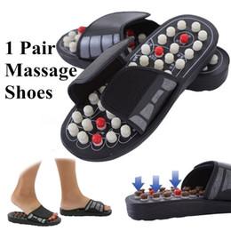 Therapie massager hausschuhe online-Neue Ankunft Fußmassage Hausschuhe Akupunktur-therapie-massagegerät Schuhe für beine Akupunkturpunkt Aktivierung Reflexzonenmassage Fußpflege massageador Sandale