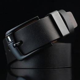 Wholesale Designer Brand Belts - 2018 New Arrival designer Pin Buckle PU leather belts for men Luxury Brand pu leather Mens Belt male ceinture LH-P76