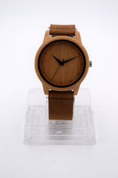 Wholesale Cheap Leather Watches Women - New Hot Fashion Wooden Watches For Woman Men Gift With Casual Japanese Movement Quartz Bamboo Watch Bracelets Wrist Watch Cheap