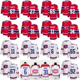 Wholesale Max Prices - 2017 100th Classic 67 Max Pacioretty 31 Carey Price 6 Shea Weber 65 shaw Tomas Plekanec Alex Galchenyuk Drouin Montreal Canadiens Jersey