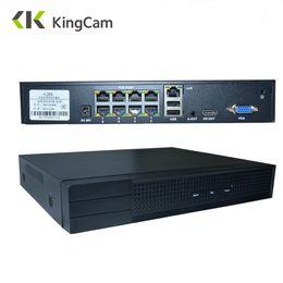 Grabadora de video en red online-KingCam 4CH / 8CH 1080P 48V 802.3af POE NVR CCTV Kit Kit P2P ONVIF Grabador de video en red Full HD 2.0MP para cámara IP POE
