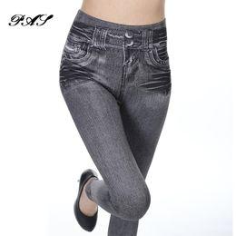 Wholesale Cowboy Leggings - 2017 Leggings Jeans Pants with Really Pocket Slim Denim winter leggins for Women Fitness Leggings Pull Cashmere Cowboy wram leg