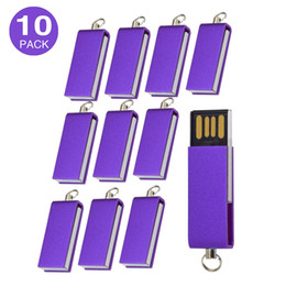 16gb mini flash drive Coupons - Free Shipping Bulk 10PCS 8GB Mini Swivel USB 2.0 Flash Drives Rotating Pen Drives Thumb Storage for PC Macbook USB Memory Stick Colorful