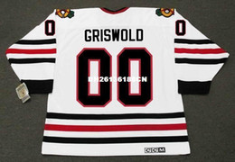 Wholesale christmas hockey jersey - Cheap custom retro CLARK GRISWOLD Christmas Vacation Chicago Blackhawks CCM Vintage Hockey Jersey