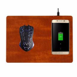 Deutschland Multifunktions-Wireless-Lade-Mauspad PU-Mauspad Wireless-Ladegerät Handy QI-Ladegerät für iPhoneX mit USB-Kabel cheap wireless charger mat qi Versorgung