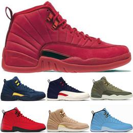 buy cheap 43ba9 01843 Nike Air Jordan Retro Turnhalle Red Bulls 12 12s Herren Basketballschuhe  CP3 Klasse von 2003 Michigan University Blue College Navy Mens Trainer Sport  ...