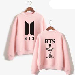 Wholesale Korean Fashion Clothes For Men - Korean Fashion bts love yourself Harajuku Hoodie For Women Men Bangtan Hip Hop Pink Sweatshirt Pullovers Female Kpop Clothes
