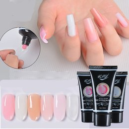 Wholesale hard finger - 8 Color Poly Gel Finger Extension Crystal Jelly Nail Gel Camouflage UV LED Hard Polygel Acrylic Builder Gel Enhancement New Arrival