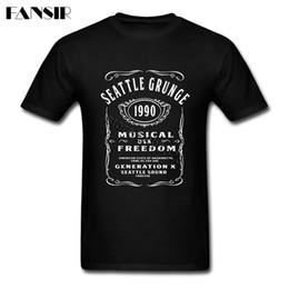 Wholesale Custom Team Clothing - Swag Tee Shirt Men Male Nirvana Soundgarden Seattle Grunge Rock Men T Shirt Short Sleeve Cotton Custom Team Clothes Tops