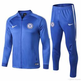 Más vendido nuevo 18 19 temporada Chelsea chándales 2018 2019 hogar lejos Hazard camiseta de fútbol traje de entrenamiento Kante chaqueta Giroud Chelsea
