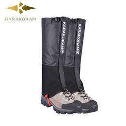 Wholesale Waterproof Shoe Covers Hiking - Outdoor Camping Hiking Climbing Waterproof Snow Legging Gaiters for Men and Women Teekking Skiing Desert Snow Boots Shoes Covers