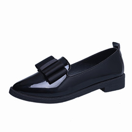 Wholesale women oxford shoes fashion brand - Classic Brand Shoes Women Casual Pointed Toe Black Oxford Shoes for Women Flats Comfortable Slip on Women Shoes