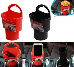 Wholesale Fries Cup - Universal Car Truck Cup Holder French Fries Drink Beverage Seat Mount Holder Plastic 2 Colors DDA228
