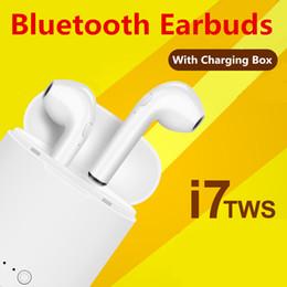 Canada Chaude En Gros I7 I7S TWS Bluetooth Casque Avec Chargeur Boîte Jumeaux Sans Fil Écouteurs Écouteurs pour iPhone Samsung Avec Au Détail Emballage Boîte Offre