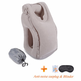 Wholesale Travel Neck Pillows For Airplanes - 2017 Most Fashion Inflatable Travel Pillow For Airplanes, Car Train Office School Nap Travel Pillow For Sleeping