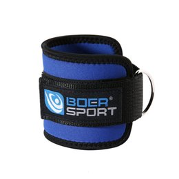 Sports Accessories 1pc Adjustable Ankle Guard Strap D-ring Thigh Leg Pulley Gmy Weight Lifting Legs Strength Recovery Training Fitness Protection Superior Performance Sports Safety