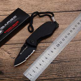 Коробочки для подарков онлайн-SARGE маленький брелок складной нож зубчатый черный нож коробка нож EDC карманные подарочные ножи 3.54 дюймов закрыт D741L