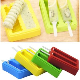 Wholesale Household Mould - household 4 colors Ice Cream Molds Popsicle Molds Ice Cream Tools Summer DIY Ice making mould Hot sale BBA332