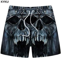 KYKU Skull Shorts Männer Grau Cargo Shorts Casual Gothic Wütend 3D Print  Strand Fitness Herren Kurze Hosen Sommer 2018 Fitness rabatt männer gothic  hosen 6f04366cf1