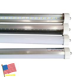 Wholesale Leds T8 - 8ft LED Tube Single Pin FA8 T8 LED Tubes Light 8 ft 8Feet 45W LEDs Lights Tube Lamp SMD2835 AC85-265V Stock In US