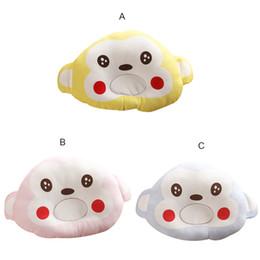 Wholesale Velvet Smile - Cotton Smiling Face Baby Pillow Cartoon Animals Shape Soft Velvet Baby Pillow Prevent Flat Head for Newborn